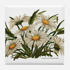 Daisies Victorian Vintage Che Tile Coaster