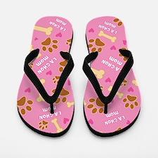 La-Chon Mom Gift Flip Flops
