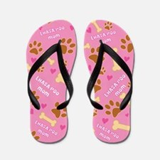 Lhasa-Poo Mom Gift Flip Flops