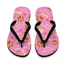 Maltichon Mom Gift Flip Flops