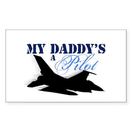 My Daddy's a Pilot Rectangle Sticker