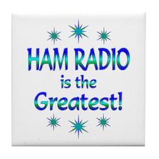 Ham Radio is the Greatest Tile Coaster