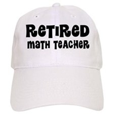 Retired Math Teacher Gift Baseball Baseball Cap