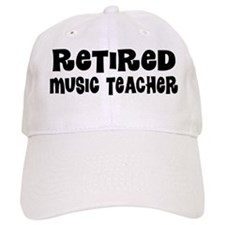 Retired Music Teacher Gift Baseball Baseball Cap