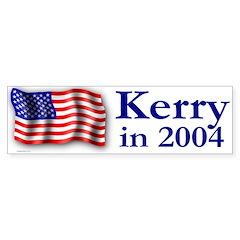 Kerry in 2004 Bumper Bumper Sticker