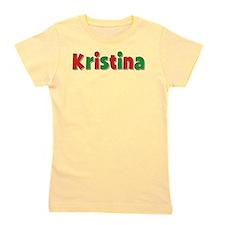 Kristina Christmas Red and Green Girl's Tee
