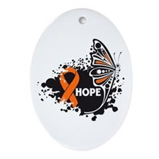 COPD Butterfly Hope Ornament (Oval)