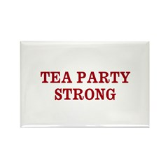 TEA PARTY STRONG Rectangle Magnet (10 pack)
