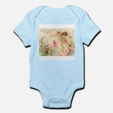 Victorian Fairies Pink Flowers Love Infant Bodysui