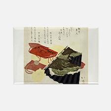 Inro And Fan - Hokkei Totoya - 1818 - woodcut Magn
