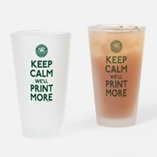 Keep Calm Fed Parody Drinking Glass