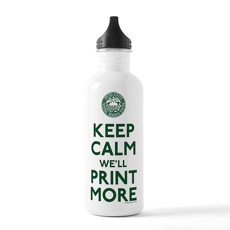 Keep Calm Fed Parody Water Bottle