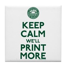 Keep Calm Fed Parody Tile Coaster