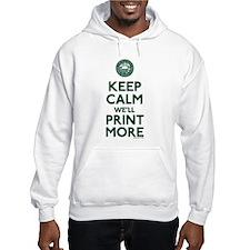 Keep Calm Fed Parody Hoodie