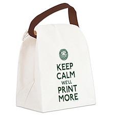 Keep Calm Fed Parody Canvas Lunch Bag