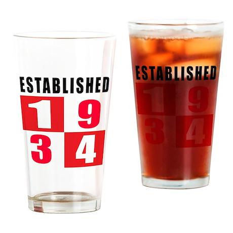 Established 1934 Drinking Glass