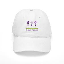 Cystic Fibrosis Flowers Baseball Cap