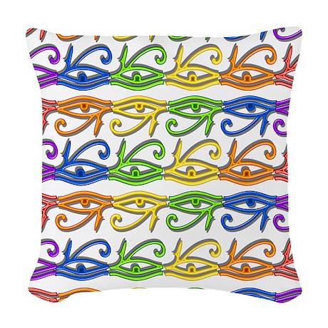 Neon Eye Woven Throw Pillow