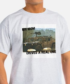 My Mom Drives a Real One Ash Grey T-Shirt