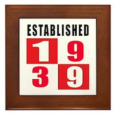 Established 1939 Framed Tile