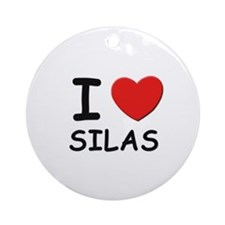 I love Silas Ornament (Round)