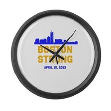 Boston Strong Blue and Gold Skyline Large Wall Clo