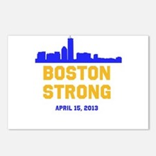Boston Strong Blue and Gold Skyline Postcards (Pac