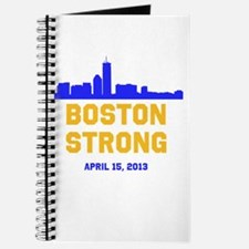 Boston Strong Blue and Gold Skyline Journal
