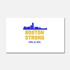 Boston Strong Blue and Gold Skyline Car Magnet 20