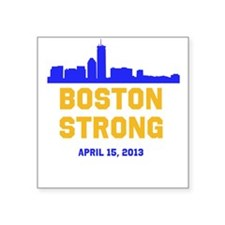 Boston Strong Blue and Gold Skyline Sticker