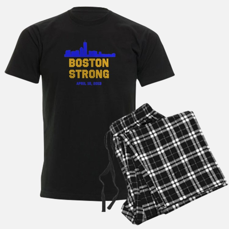 Boston Strong Blue and Gold Skyline Pajamas