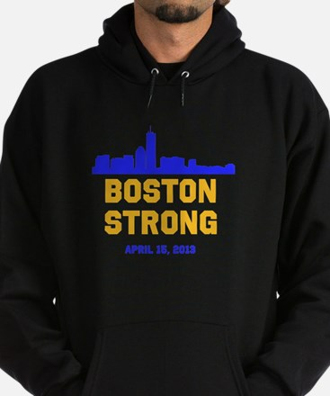Boston Strong Blue and Gold Skyline Hoody