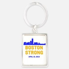 Boston Strong Blue and Gold Skyline Keychains