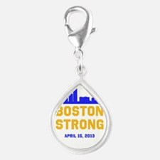 Boston Strong Blue and Gold Skyline Charms