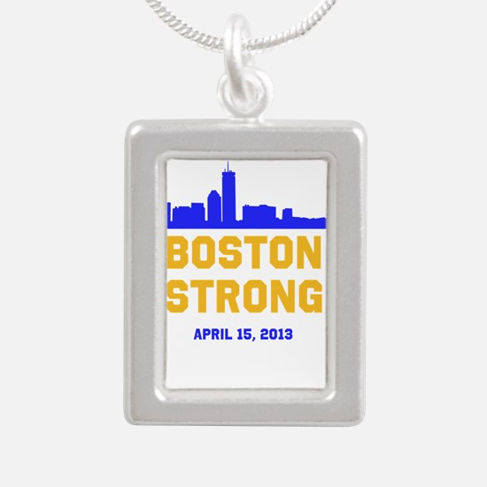 Boston Strong Blue and Gold Skyline Necklaces
