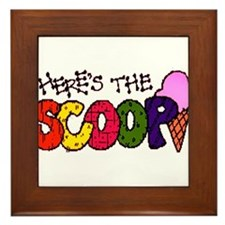 Here's the Scoop Framed Tile