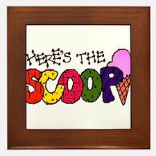 Here's the Scoop Framed Tile