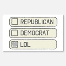 Partisan Multiple Choice Decal