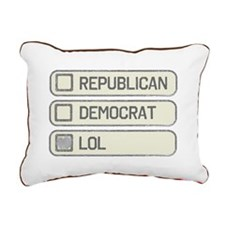 Partisan Multiple Choice Rectangular Canvas Pillow