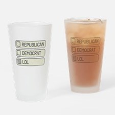 Partisan Multiple Choice Drinking Glass