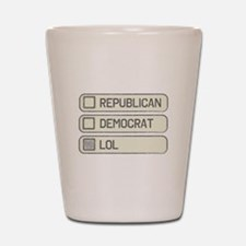 Partisan Multiple Choice Shot Glass