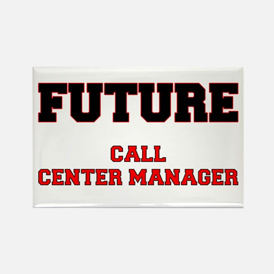 Future Call Center Manager Rectangle Magnet