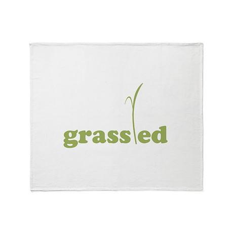 Grass Fed Organic Lifestyle Throw Blanket