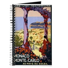 Antique Monaco Land of Sun Travel Poster Journal