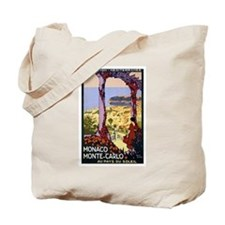 Antique Monaco Land of Sun Travel Poster Tote Bag