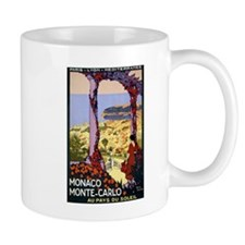 Antique Monaco Land of Sun Travel Poster Mug