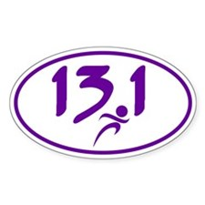 Purple 13.1 half-marathon Decal