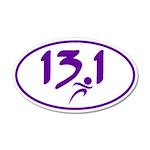 Purple 13.1 half-marathon Wall Decal