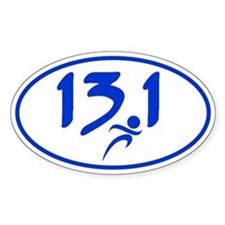 Blue 13.1 half-marathon Decal