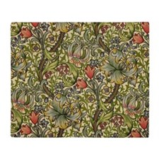 Morris Golden Lily Minor Design Throw Blanket